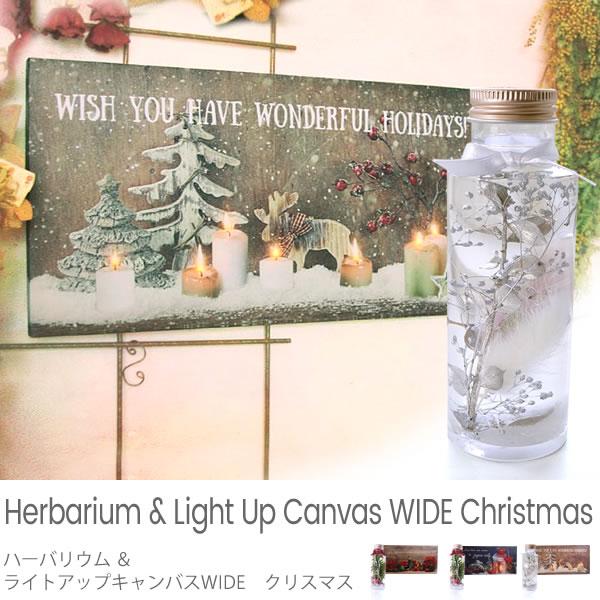 ハーバリウム&ライトアップキャンバスWIDE クリスマス