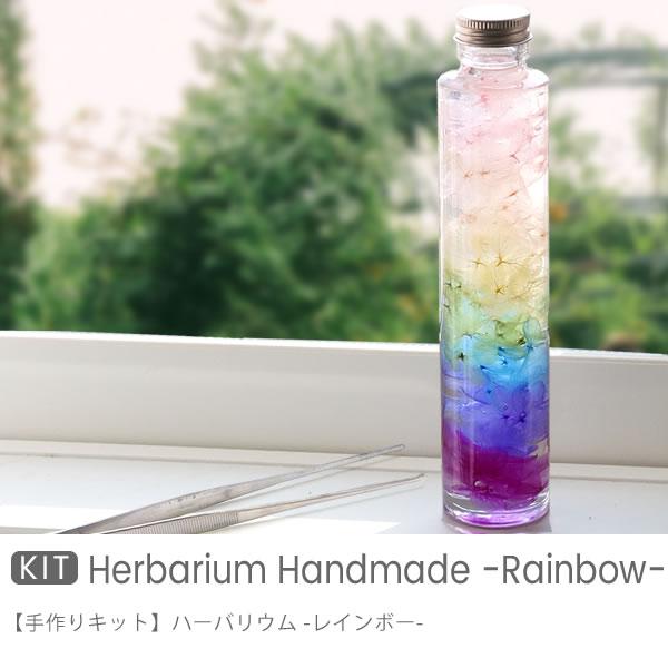 ハーバリウム 手作りキット レインボー