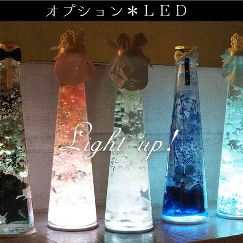 【オプション】LED ブライド&グルーム ボトル専用(ハーバリウム)(2枚組)