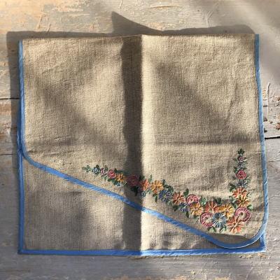 B-035 手刺繍リネンケース