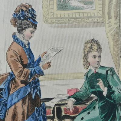 E-682 フランスアンティークカタログ 19世紀ファッションカタログ
