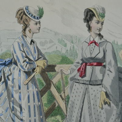 E-678 フランスアンティークカタログ 19世紀ファッションカタログ