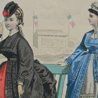 E-680 フランスアンティークカタログ 19世紀ファッションカタログ