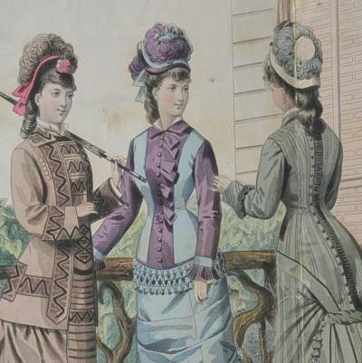 E-684 フランスアンティークカタログ 19世紀ファッションカタログ