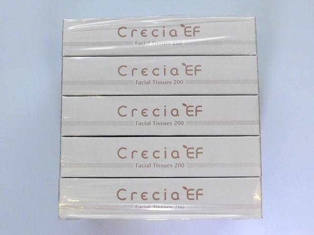クレシア(Crecia) クレシアEFティッシューレギュラー200W(5BOX) 入数:12パック 単価:390円