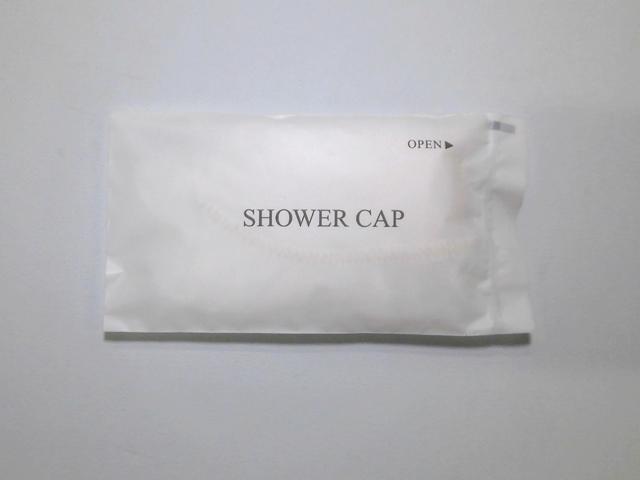 【少ロット】シャワーキャップ白マット袋入り 入数:500個 単価:9円