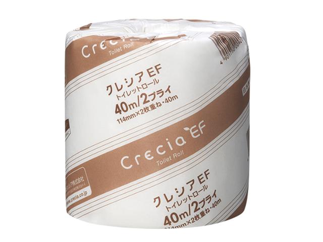 クレシア(Crecia) EFトイレットロール40MW 入数:80個 単価:85円
