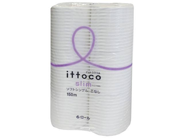イトマン(ITOMAN) イットコ芯なしSLIM 6ロール150mシングル 入数:10 単価:468円