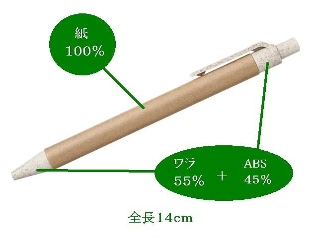 バイオマスシリーズ クラストボールペン  入数:1000本  単価:25円