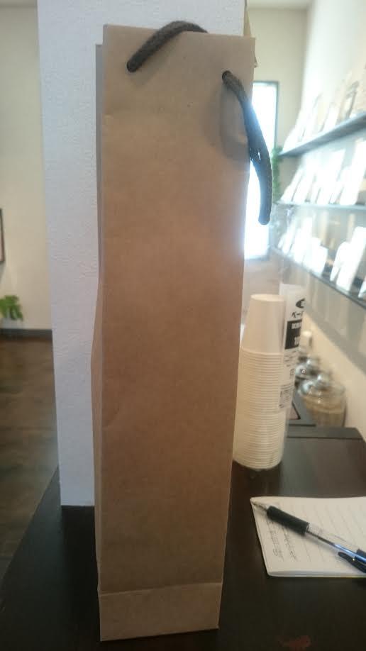 カフェオレベース 1本用 紙袋
