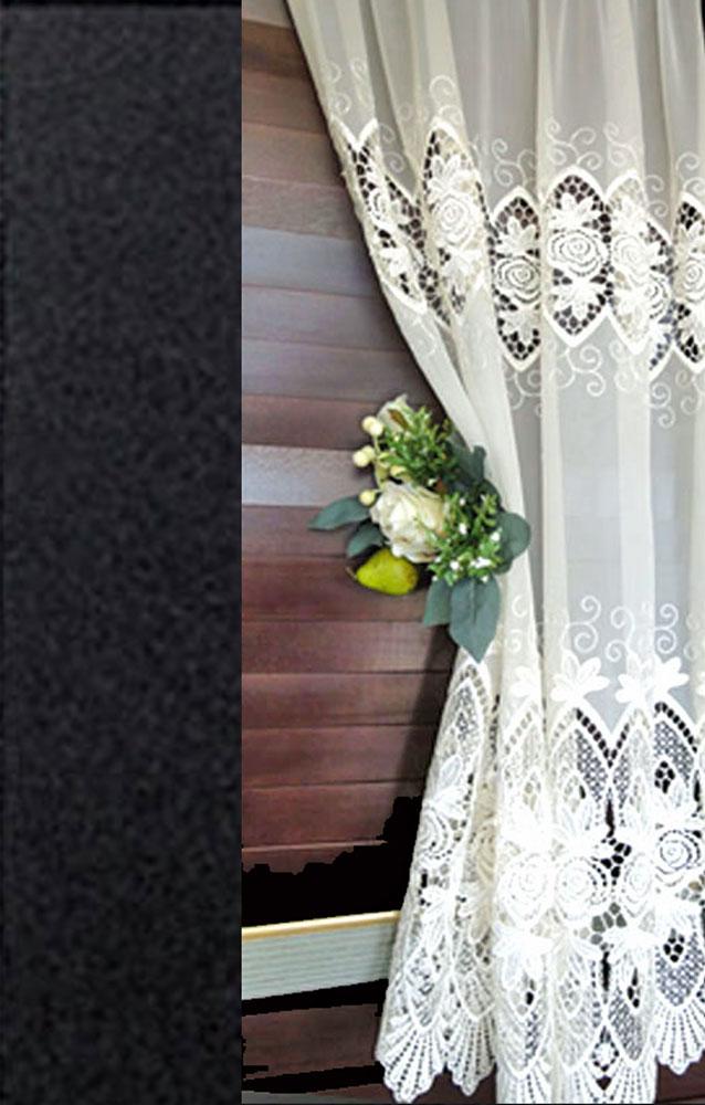 【縦110cm】細窓用 アイボリー トルコ製 送料無料『カフェカーテン』窓に合わせて セレクト出来ます 縫製日本小窓用