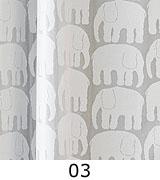 """【横150cm×縦52cm】遮熱レース『カフェカーテン』ムーミンでおなじみ北欧""""フィンレイソン社""""のエレファンティ/ショート"""