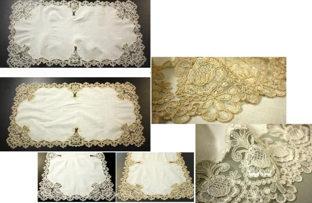 ウェディングドレスのチュールの様な 『テーブルセンター』【47×91cm】