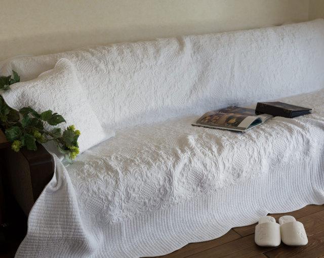 【200×250cm】大きい・真っ白『マルチカバー』価格以上に上質*リバーシブル・ホワイトキルト