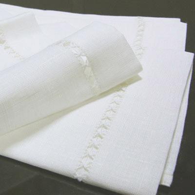 リネンミー LinenMe リネン ハンドタオル クラウン 47 × 70 オフホワイト