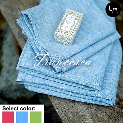 リネンミー LinenMe リネン ハンドタオル フランセスカ 45x70cm リネン100% リトアニア製