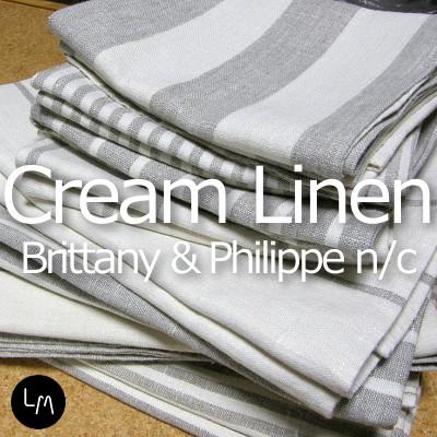 リネンミー LinenMe リネン ハンドタオル クリームリネン ブリタニー&フィリップN/C 43x68cm リネン100% リトアニア製