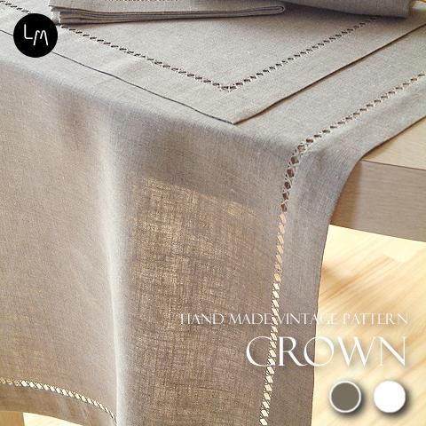 リネンミー LinenMe リネン テーブルランナー クラウン  リトアニア製