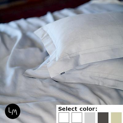 リネンミー LinenMe リネン枕カバー LIN078 ヘムステッチ 【70X50cm】リトアニア製