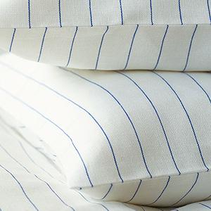 リネンミー LinenMe リネン枕カバー ブルーストライプ 【70X50cm】リトアニア製