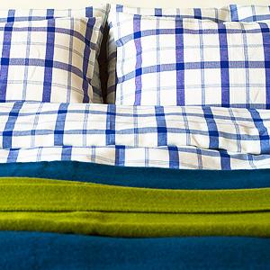 送料無料♪ リネンミー LinenMe リネン掛け布団カバー ブルースクエア 【シングル 150X210cm】リトアニア製