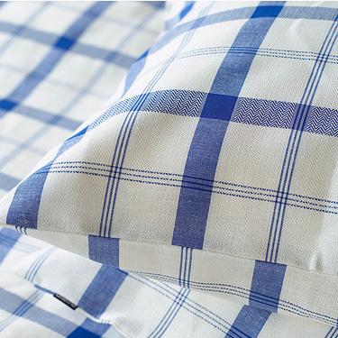 リネンミー LinenMe リネン枕カバー ブルースクエア 【63X43cm】リトアニア製