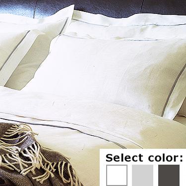 送料無料♪ リネンミー LinenMe リネン掛け布団カバー LIN078 パイピング 【ダブル 190X210cm】リトアニア製