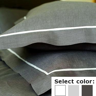リネンミー LinenMe リネン枕カバー LIN078 パイピング 【70X50cm】リトアニア製