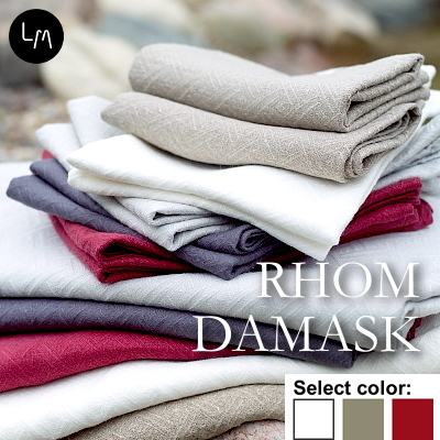 リネンミー LinenMe リネン ハンドタオル ロームダマスク 47x70cm リネン100% リトアニア製