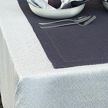 リネンミー LinenMe リネン テーブルクロス ダマスク織り ローム 150 x 220