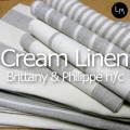 リネンミー LinenMe リネン バスタオル クリームリネン ブリタニー&フィリップN/C 60x130cm リネン100% リトアニア製