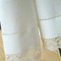 リネンミー LinenMe リネン ハンドタオル フェリシア ホワイト 47 × 70