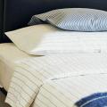 送料無料♪ リネンミー LinenMe リネン掛け布団カバー ブルーストライプ 【ダブル 190X210cm】リトアニア製