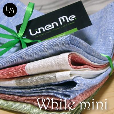 メール便送料無料 【LinenMe / リネンミー】リネン miniタオル ホワイト・チーム チョイス・ワン リトアニア製