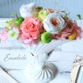 結婚祝い プレゼント  プリザーブドフラワー アレンジメント  電報 結婚式  お花の電報  電報  祝電  結婚記念日 プレゼント