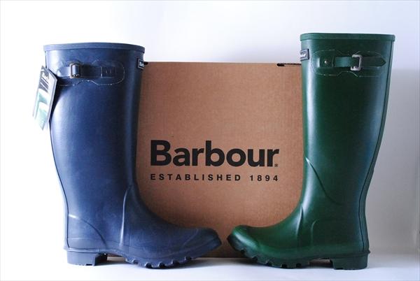 新品 BARBOUR TOWN&COUNTRY WELLINGTON BOOTS バーブァー バブアー レインブーツ オリーブグリーン ネイビーブルー
