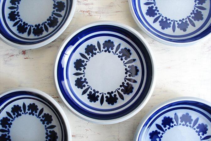ベルギー製 BOCH ボッホ Baltic プレート 21.5cm 陶器 磁器 お皿 ヴィンテージ アンティーク