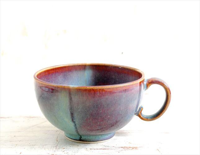 デンマーク買い付け きれいな釉薬の陶器 スープカップ マグカップ 北欧食器 ヴィンテージ アンティーク