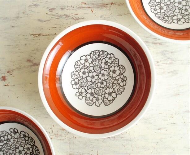 スウェーデン製 Gefle Agneta 19cm スープ皿 ゲフレ アグネッタ 深皿 ディーププレート ボウル 北欧食器 磁器 アンティーク