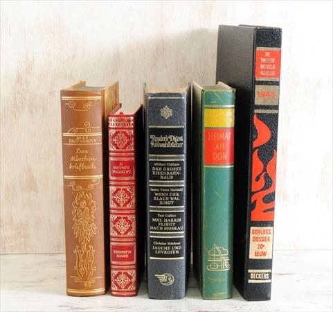 1920-80年代 スペイン語 ドイツ語 オランダ語古い洋書 5冊セット ディスプレイ 古書 アンティークブック