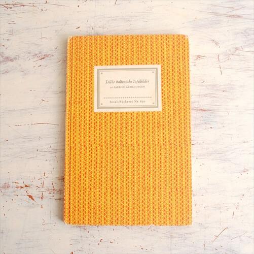 ドイツ インゼル文庫 630番 イタリアの板絵集 作品集 洋書 アンティークブック Insel ディスプレイ 古書 本