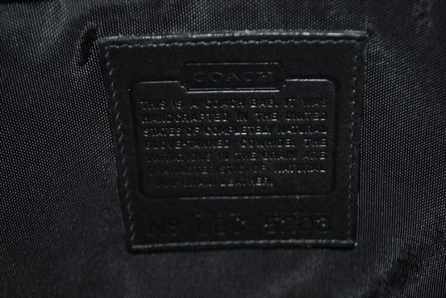 USA製 COACH コーチ 本革レザー ブリーフケース ビジネスバッグ ブラック 黒色 メンズ オールドコーチ