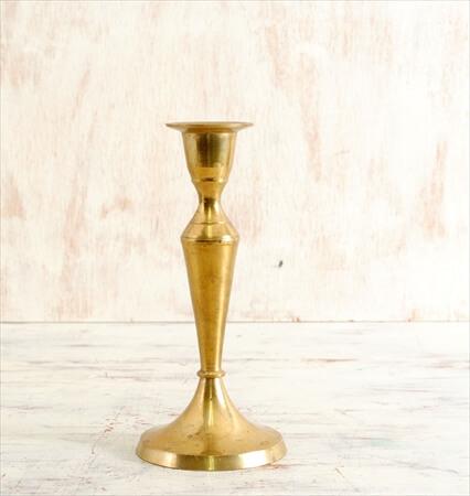 ドイツ買い付け 真鍮のキャンドルスタンド ロウソク立て 燭台 ブラス アンティーク ヴィンテージ
