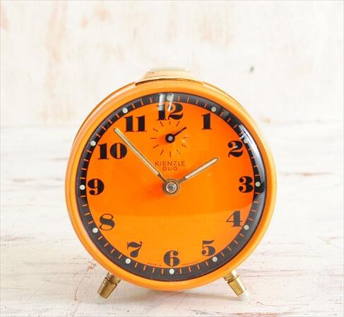 ドイツ製 ヴィンテージ KIENZLE DUO 手巻き 目覚まし時計 キンツレー ゼンマイ式 アンティーク時計 アナログ おしゃれ