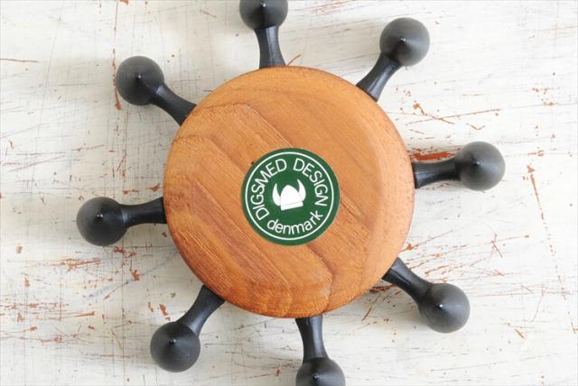 デンマーク DIGSMED チークx鋳物 キャンドルスタンド ホルダー 燭台 北欧雑貨 無垢材