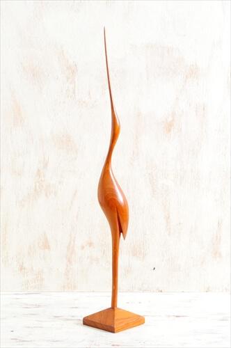 デンマークのブロカントから チーク 鳥のオブジェ 木製 北欧 ミッドセンチュリー アンティーク