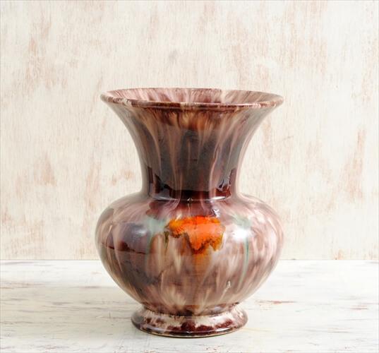 西ドイツ製 ヴィンテージ JASBA KERAMIK 陶器の花瓶 花器 一輪挿し ミッドセンチュリー期 フラワーベース アンティーク