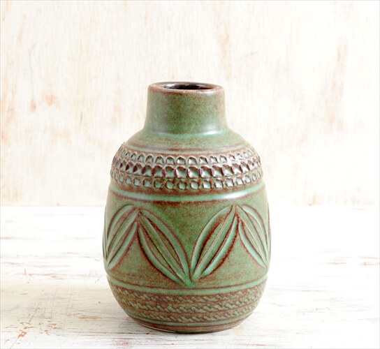 西ドイツ製 ヴィンテージ Edelkeramik Ilkra 陶器の一輪挿し Knodgenデザイン 花器 花瓶 ミッドセンチュリー期 アンティーク