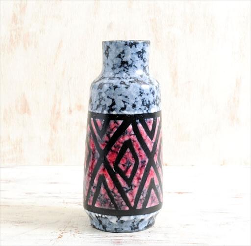 東ドイツ製 ヴィンテージ Strehla 陶器の一輪挿し 花器 花瓶 ミッドセンチュリー期 フラワーベース アンティーク