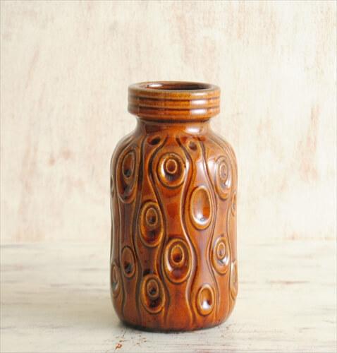西ドイツ製 ヴィンテージ Scheurich窯 陶器の花瓶 花器 一輪挿し ミッドセンチュリー期 フラワーベース アンティーク